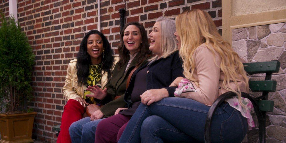 Sara Bareilles, Renee Elise Goldsberry, Busy Philipps, and Paula Pell in Girls5Eva