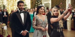 Vanessa Hudgens as Queen Margaret and Fiona in _The Princess Switch: Switched Again._
