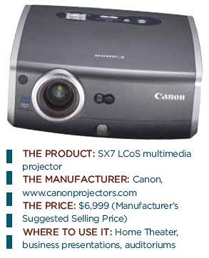Canon Realis SX7 LCOS Multimedia Projector