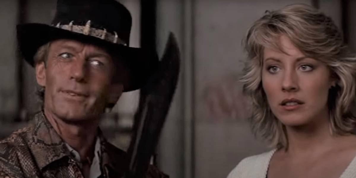 Paul Hogan and Linda Kozlowski in Crocodile Dundee
