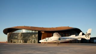 Virgin Galactic's Gateway to Space terminal for space tourists flights at Spaceport America near Truth or Consequences, New Mexico.