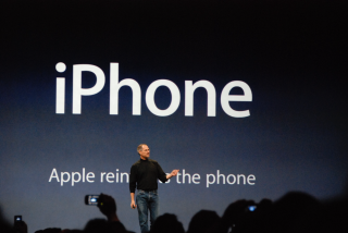 Steve Jobs introduces the original iPhone.