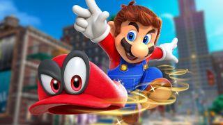 Mario doing some hat tricks