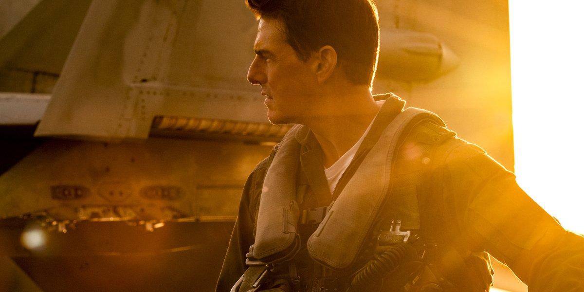 Tom Cruise as Maverick in Top Gun Maverick