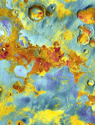 Mars, After Dark: Odyssey Spacecraft Paints a Vivid Portrait