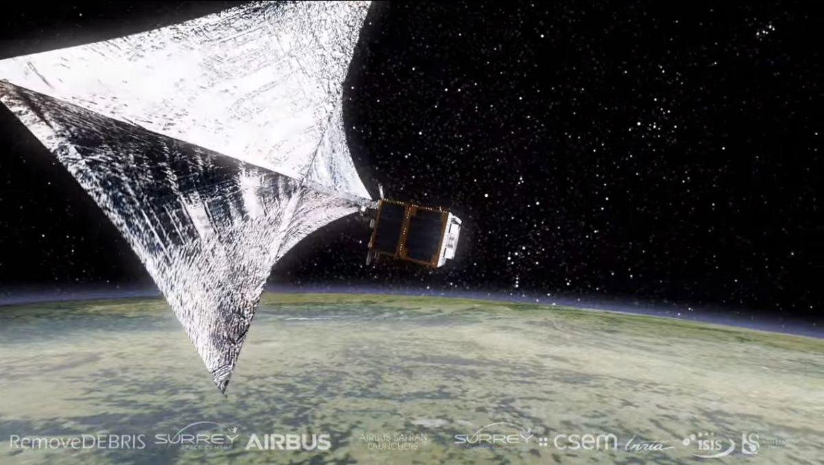 This Space Junk Removal Experiment Will Harpoon & Net Debris