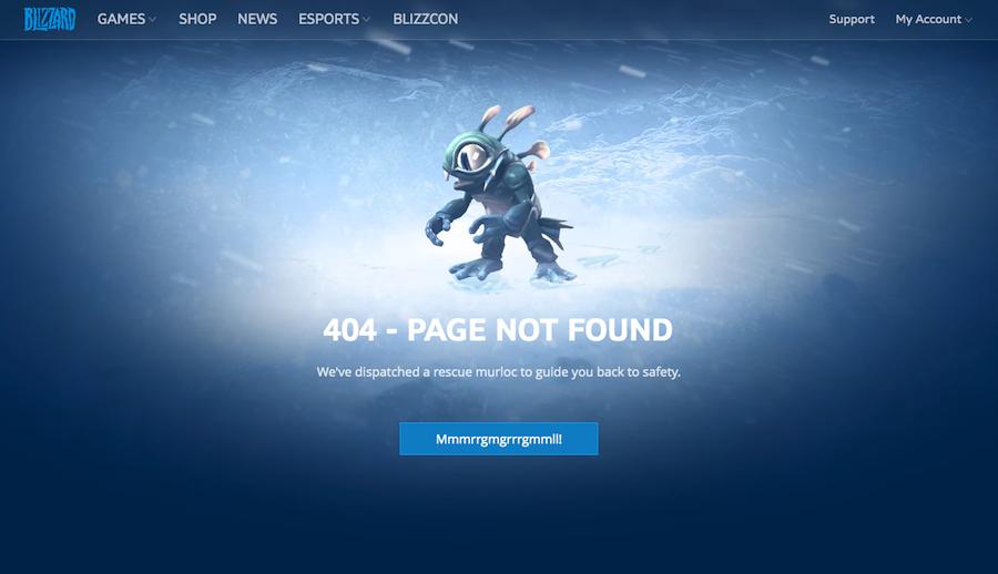 404 page: Blizzard Entertainment
