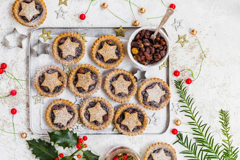 Caffe Latte Mince Pies on a tray