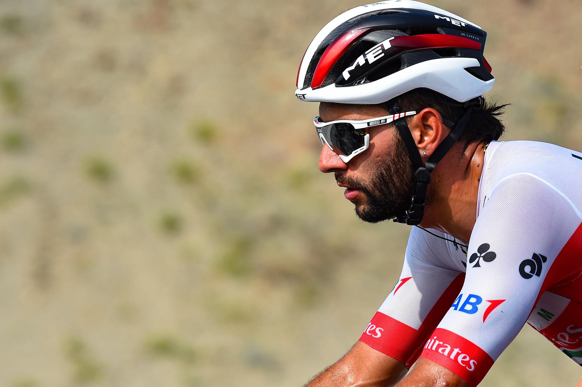 UAE Team Emirates' Fernando Gaviria on stage 2 of the 2020 UAE Tour