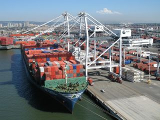 Commercial shipping crane