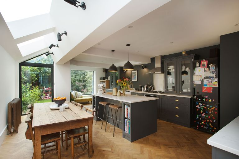 grey kitchen extension