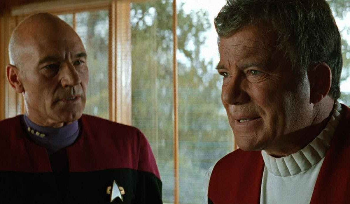 Star Trek Generations Picard tries to talk Kirk into leaving in his kitchen