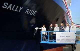 Christening of Auxiliary General Oceanographic Research Research Vessel Sally Ride