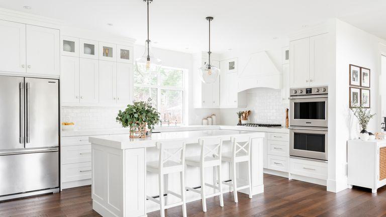 White kitchen designed by McLellan & Co.