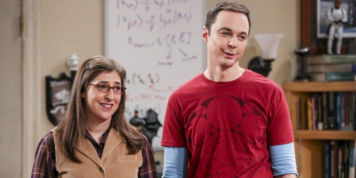 Mayim Bialik and Jim Parsons on Big Bang Theory