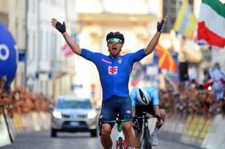 2021 UEC Road European Championships Trento Elite Mens Road Race Trento Trento 1792 km 12092021 Sonny Colbrelli Italy photo Dario BelingheriBettiniPhoto2021