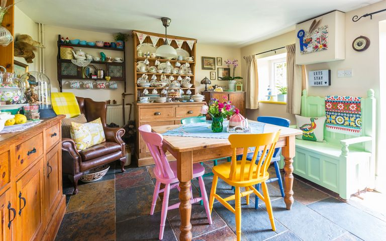 colourful cottage dining room