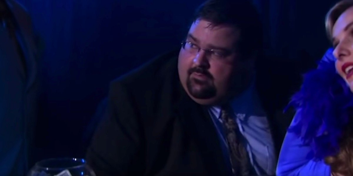 Tony Gardner as the piano player in Threat Level Midnight on The Office