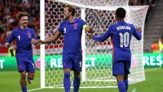 England celebrating after scoring a goal