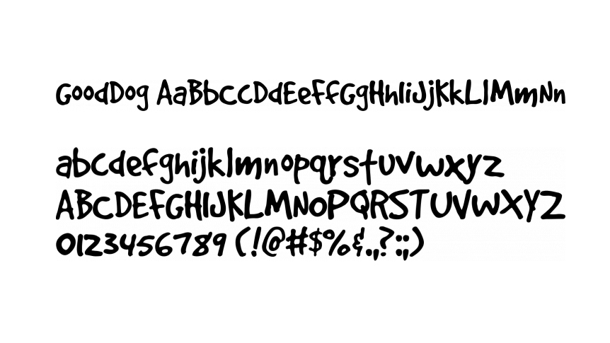 Free handwriting fonts: GoodDog