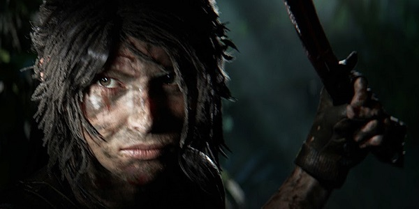 Lara Croft sneaks out of the shadows.