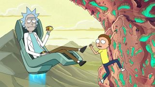 watch Rick and Morty season 5 episode 6: Hopefully this episode's family meal will be at a table, and not in a cliff