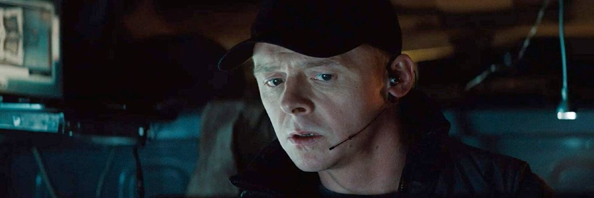 Simon Pegg in Mission: Impossible - Ghost Protocol