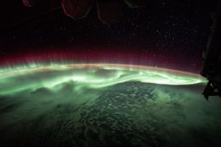 This aurora was captured on camera from the International Space Station on June of 2017.