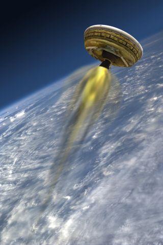 Tweet this page LDSD's Rocket-Powered Test Vehicle
