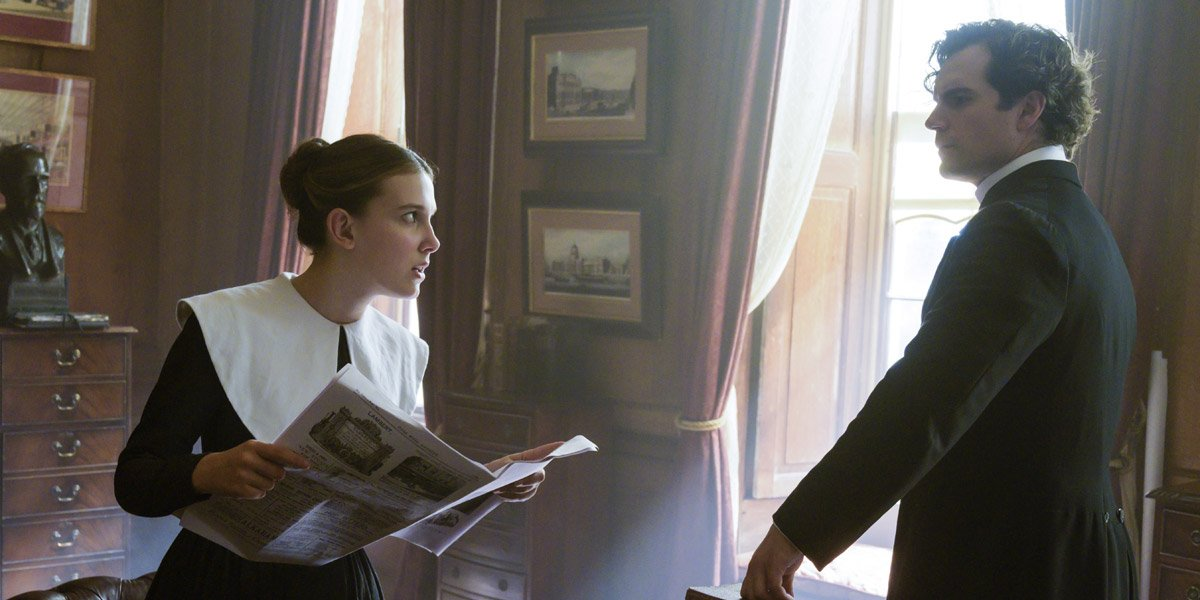 Millie Bobby- Brown and Henry Cavill in Enola Holmes