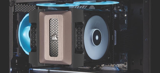 One of CORSAIR's air cooling towers.