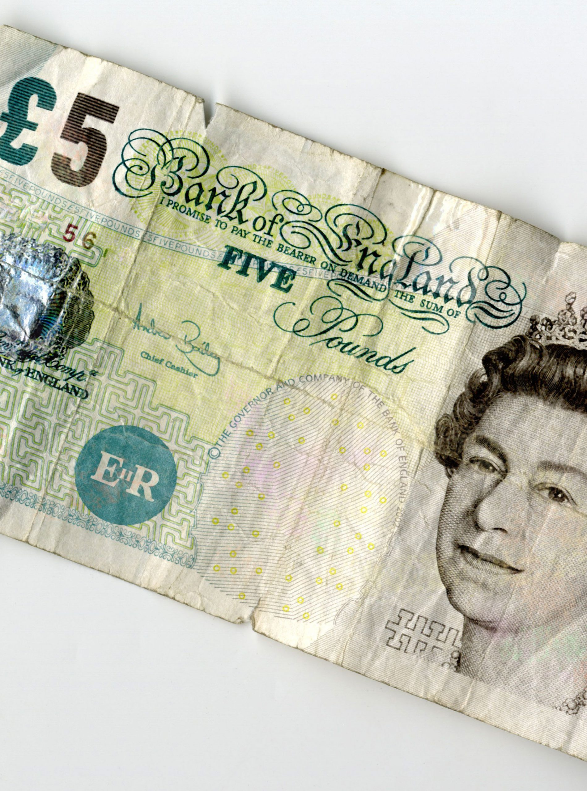 old £5 note