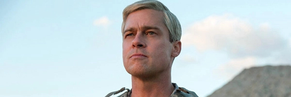 War Machine Brad Pitt looking far away