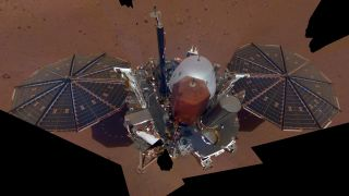 InSight Lander's First Mars Selfie