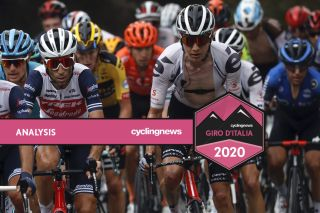 Sunweb's Wilco Kelderman (right) put time into a number of big GC names during stage 3 of the 2020 Giro d'Italia to Mount Etna