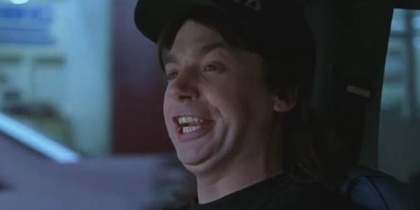 Mike Myers is Wayne in Wayne's World