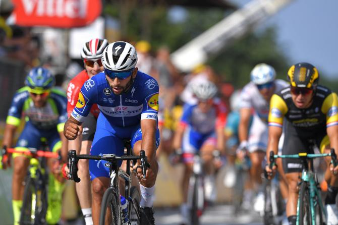 Fernando Gaviria (Quick-Step Floors) wins stage 4 at the Tour de France
