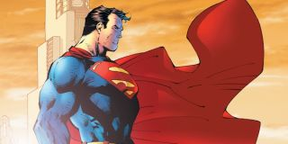 Profile shot of Superman