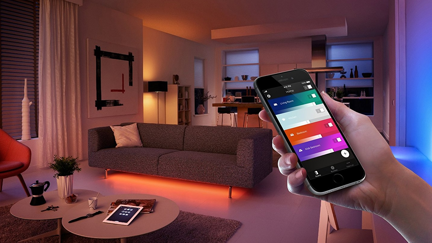 The Philips Hue app has recently undergone a redesign and is now much easier to use (Image Credit: Philips)