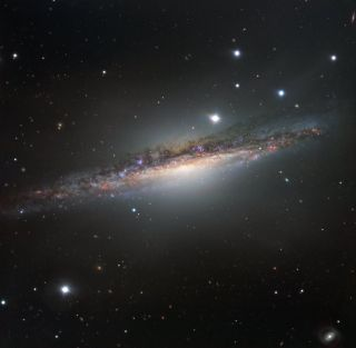 Edge-on View of Galaxy NGC 1055