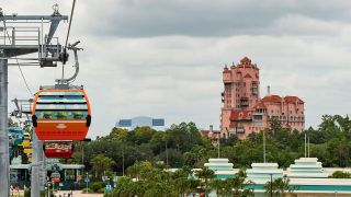 Tower of Terror and Skyliner at Disney Hollywood Studios