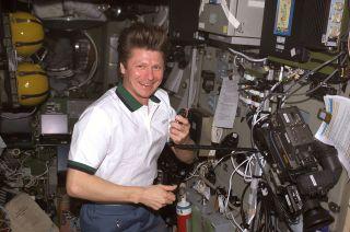 Cosmonaut Gennady Padalka Aboard International Space Station