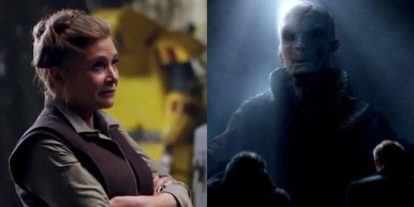General Leia and Supreme Leader Snoke