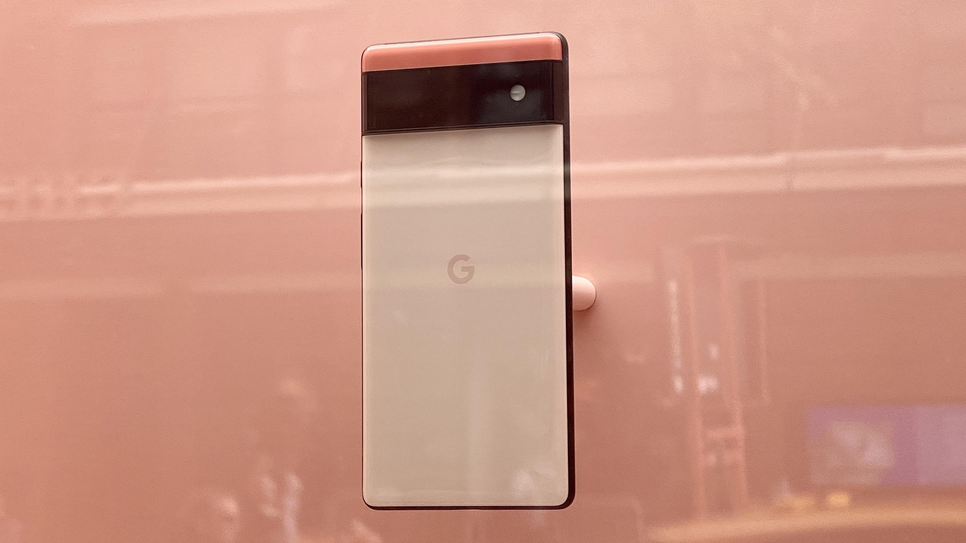 Google Pixel 6 on display in NYC Google store