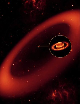 Saturn's Phoebe Ring in Infrared Light