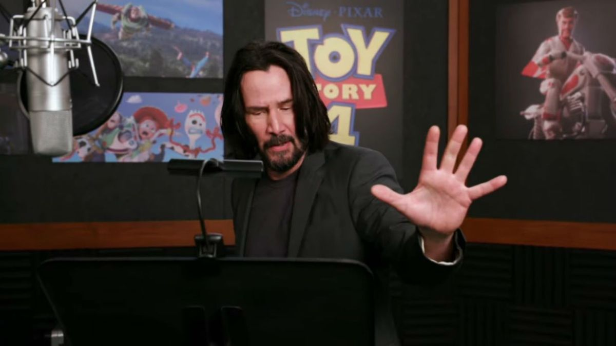 Need more Keanu Reeves in your life? This behind-the-scenes Toy Story 4 feature is the best thing you'll see all day