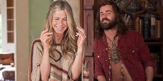 Jennifer Aniston as Linda Gergenblatt and Justin Theroux as Seth in Wanderlust (2012)
