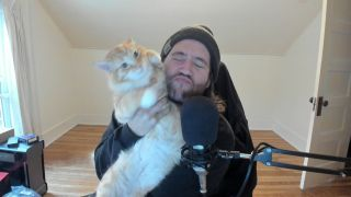 How to stream on Twitch: James with a cat