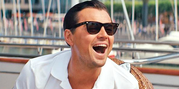 Leonardo DiCaprio laughing