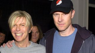 David Bowie and Page Hamilton in Los Angeles on April 22, 2004